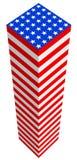 Van de de vlagfantasie van de V.S. de kubieke bouw. Royalty-vrije Stock Foto's