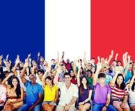 Van de de Vlagnationaliteit van het Land van Frankrijk de Cultuur Liberty Concept royalty-vrije stock afbeeldingen