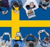 Van de de Vlagoverheid van Zweden de Nationale Vrijheid LIberty Concept stock fotografie