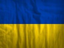 Van de de vlagstof van de Oekraïne de textuurtextiel Stock Afbeelding