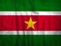 Van de de vlagstof van Suriname de textuurtextiel Royalty-vrije Stock Foto's
