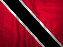 Van de de vlagstof van Trinidad en van Tobago de textuurtextiel Royalty-vrije Stock Foto
