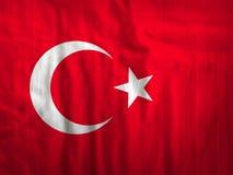 Van de de vlagstof van Turkije de textuurtextiel Stock Afbeelding