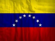 Van de de vlagstof van Venezuela de textuurtextiel Stock Afbeeldingen