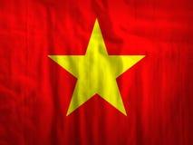 Van de de vlagstof van Vietnam de textuurtextiel Stock Afbeelding
