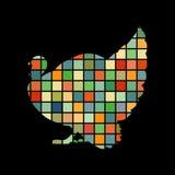 Van de de vogelkleur van Turkije het silhouetdier Royalty-vrije Stock Foto's