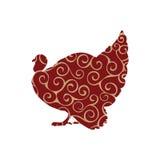 Van de de vogelkleur van Turkije het silhouetdier Stock Fotografie