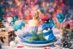 Van de de vooravondlijst van Kerstmiskerstmis de raads plaatsend Nieuwjaar Royalty-vrije Stock Foto