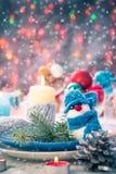 Van de de vooravondlijst van Kerstmiskerstmis de raads plaatsend Nieuwjaar Stock Afbeelding