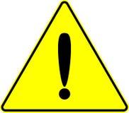 Van de de voorzichtigheidsuitroep van de aandacht het gele vectorteken Stock Afbeelding