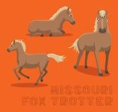 Van de de Vosdraver van paardmissouri het Beeldverhaal Vectorillustratie Stock Fotografie