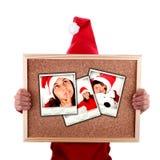 Van de de vrouwenholding van de kerstman Kerstmisfoto's Stock Fotografie