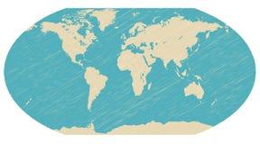 De bolkaart van de wereld Stock Afbeelding