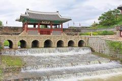"""Van de de Werelderfenis van Unesco van Korea de Plaatsen†""""Hwaseong Vesting Stock Foto's"""