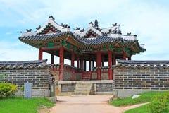 """Van de de Werelderfenis van Unesco van Korea de Plaatsen†""""Hwaseong Vesting Stock Afbeelding"""