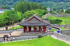 """Van de de Werelderfenis van Unesco van Korea de Plaatsen†""""Hwaseong Vesting Royalty-vrije Stock Afbeelding"""