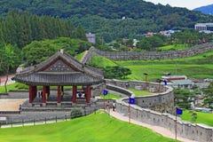 """Van de de Werelderfenis van Unesco van Korea de Plaatsen†""""Hwaseong Vesting Royalty-vrije Stock Afbeeldingen"""