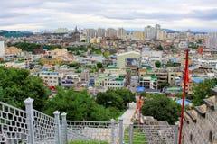 """Van de de Werelderfenis van Unesco van Korea de Plaatsen†""""Hwaseong Vesting en Suwon-Stad Stock Foto's"""