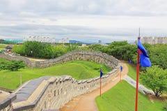 """Van de de Werelderfenis van Unesco van Korea de Plaatsen†""""Hwaseong Vesting Royalty-vrije Stock Foto's"""