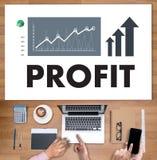 Van de de WINSTgroei van zakenmansuccess increase het DOELinkomens QUAL stock fotografie