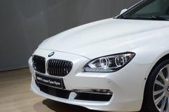 Van de de Zesde Reeks de Witte Kleur van BMW Salon van Moskou Internationale Automobiele Royalty-vrije Stock Foto