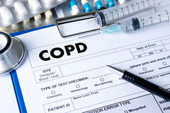 Van de de ziektegezondheid van COPD Chronische obstructieve long medische concep Royalty-vrije Stock Foto's