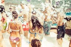 Van de de zomerpartij van het schuimstrand marmaris Turkije Stock Afbeelding