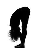 Van de de zonbegroeting van de vrouw namaskar de yogasurya stelt stock foto