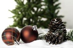 Van de de decoratiesnuisterij van de Kerstmisbal de close-upnieuwjaar stock foto