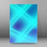 Van de Dekkingspagina's van de achtergrondrapportbrochure de stijl abstracte glow11 A4 Royalty-vrije Stock Foto's