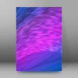 Van de Dekkingspagina's van de achtergrondrapportbrochure de stijl abstracte glow59 A4 Stock Foto's