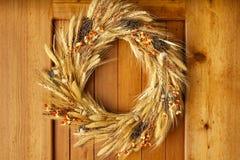 Van de de deurdaling van het huisthuisfront van de de herfstdankzegging van het de decoratieland de stijl natuurlijke botanische  royalty-vrije stock fotografie