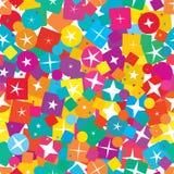Van de de diamantvorm van de stercirkel het vierkante kleurrijke naadloze patroon vector illustratie