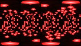 360 van de de disconachtclub van VR Rode van de de dansvloer van het de muur lichte net vj lijn als achtergrond stock video