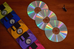 Van de diskette de duimaandrijving Royalty-vrije Stock Foto's