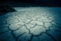 Van de de Doodsvallei van het Badwaterbassin de zoute vormingen Stock Foto