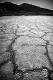 Van de de Doodsvallei van het Badwaterbassin de zoute vormingen Royalty-vrije Stock Foto's