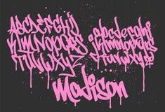 Van de de Doopvont de met de hand geschreven Typografie van de tellersgraffiti vectorillustratie vector illustratie