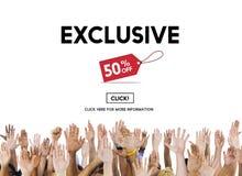 Van de Exclusive Discount Limited het Privé Concept Luxeaanbieding Stock Afbeeldingen