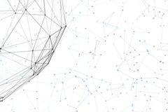 Van de fantasie abstracte technologie en techniek achtergrond Stock Afbeelding