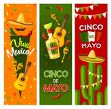 Van de de fiestapartij van Cinco de Mayo Mexicaanse de groetbanner