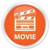 Van de film (het pictogram van de bioskoopklem) premie de oranje ronde knoop Stock Foto's