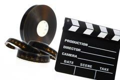 Van de filmspoel en bioskoop klap Stock Fotografie