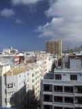 Van de flatgebouwen met koopflatshotels van de dakmening de Grote Canarische Eilanden Spanje Stock Foto's