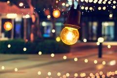 Van de Gebeurtenisfestival en Kerstmis van de lichtendecoratie lichten openlucht, v Stock Afbeeldingen