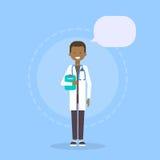 Van de de Geneeskundearbeider van medische Artsenclinics hospital male Online het Overlegconcept stock illustratie