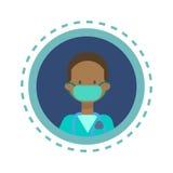 Van de de Geneeskundearbeider van medische Artsenicon clinics hospital Online het Overlegknoop royalty-vrije illustratie