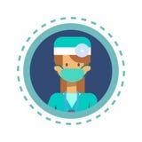 Van de de Geneeskundearbeider van medische Artsenicon clinics hospital Online het Overlegknoop vector illustratie