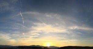 Van de Gierencathartes van Turkije van het auraaven de Buizerden die van Cathartidae bij Zonsondergang dichtbij St George Utah in Royalty-vrije Stock Afbeelding