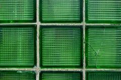 Van de glas groen Muur abstract blok als achtergrond Royalty-vrije Stock Afbeeldingen
